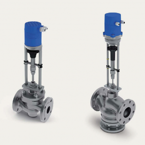 Control valves with electric actuator