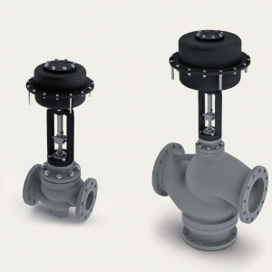 Control valves with pneumatic actuator