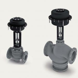 Control valves with pneumatic actuator